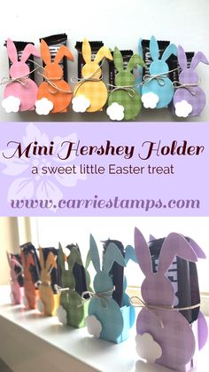 Super cute little Easter candy holder. The Hop Cuts Die With Fun S . - Super cute little Easter candy holder. The Hop Cuts Die With Fun Stamp …, holder - Easter Candy, Easter Treats, Easter Gift, Diy Easter Cards, Easter Desserts, Easter Decor, Candy Crafts, Paper Crafts, Teacher Christmas Gifts