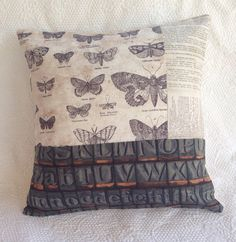 vintage urban patchwork pillow cover 14x14 by Twinoaksstudioonline, $26.00 featuring Tim Holtz Eclectic Elements fabrics