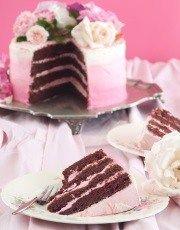 Sjokoladekoek met rooi fluweel