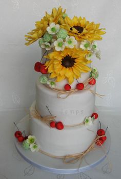 wedding cake by lamps - http://cakesdecor.com/cakes/251806-wedding-cake