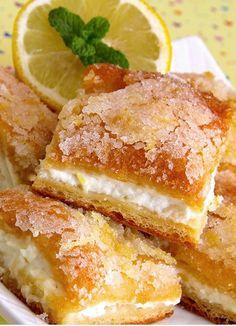 Lemon cream cheese puffs