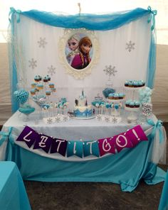frozen candy buffet | Frozen Candy Buffet by Bizzie Bee Creations