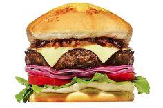 MEDEME! SMOKE: Pão Especial, hambúrguer exclusivo com bacon (250g), queijo mozzarella, folhas de rúcula, tomate, cebola roxa e uma calda especial de bacon, deixando seu sabor único.