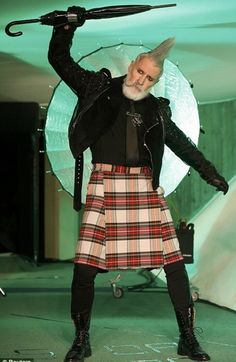 I told you guys gray was in! John Paul Gaultier tells Paris Fashion Week to get off the god-damned lawn: