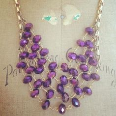 Eden Royal Necklace.  This limited edition necklace in the seasons hottest color.  Available now!!!