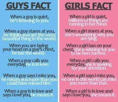 The difference between girls and boys in love.