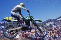World Champion 500cc motocross champion, Brad Lackey, 500cc USGP Carlsbad, CA, Kawasaki   - ©2014 Dave Hawkins Photography, Nashville, TN