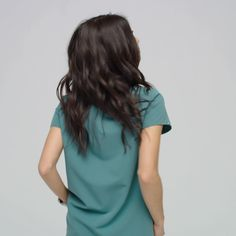 Nurse Discover NEW in Hydro Green our Embu Popover Scrub Top is easy effortless and flattering. Here for six weeks -- shop now! Cute Nursing Scrubs, Cute Scrubs, Nursing Clothes, Scrubs Outfit, Scrubs Uniform, Scrubs Pattern, Doctor Scrubs, Stylish Scrubs, Green Scrubs