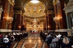 Saint Stephen Basilica of Budapest is the most popular Roman Catholic church among multi-culti couples owing to its flexibility and bilingual wedding ceremonies. More information about how to get married in Hungary: http://www.hungarianweddings.com/Magazine/Entries/2012/10/20_Wedding_ceremonies_in_Hungary.html