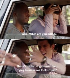 "New Girl- Kryptonite- Schmidt & Winston- ""There's no top dog crown! You trying to make me look stupid?"""