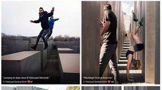 Progetto Yolocaust: vi divertireste così in un lager in mezzo ai morti? Senza voler fare paragoni irriverenti, qualcosa di simile lo si vede anche con i turisti che - nel Bel Paese - visitando una necropoli antica, si concedono dei selfie assumendo pose e facce decisamen #yolocaust #provocazione #satira #interne