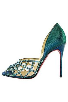 Christian Louboutin, I like the color and style of these.