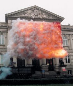 Cai Guo-Qiang - Red Flag / Paradise, 2005 - Commissioned by Zacheta National Gallery of Art, Warsaw -repinned by http://LinusGallery.com  #art #artists #contemporaryart