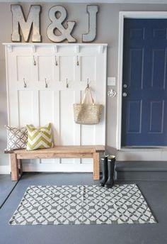 Garage Mudroom Makeover - One Room Challenge - Sypsie.com. I am in love with this garage!