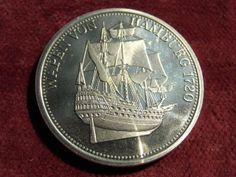 "Medaille d. Hansestadt Hamburg : ""WAPPEN v. HAMBURG 1720"" -maritim -rar"