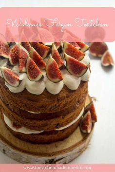 Rezept für Naked Cake mit Feigen und Walnüssen