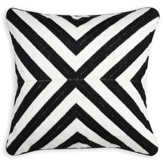 Décor & Pillows - Black And White Bridget Bargello Throw Pillow