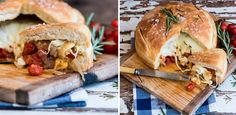Gourmet stuffed braai loaf from Clos Malverne in SA Braai Recipes, Cooking Recipes, Savoury Recipes, South African Recipes, Ethnic Recipes, Pulled Pork, Baked Goods, Dessert Recipes, Desserts