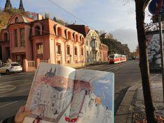 prague, book, vysehrad, tram, illustration Prague, World, Illustration, Artist, Books, Libros, Artists, Book, Illustrations