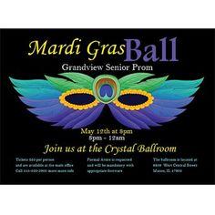 Masquerade Ball Personalized Invitations