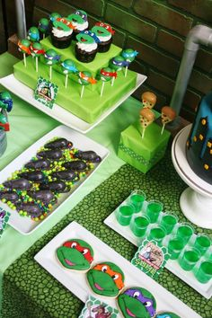 Teenage Mutant Ninja Turtles Party Planning Ideas Supplies Idea Cake