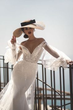 la petra 2019 bridal long poet sleeves off the shoulder v neck heavily embellished bodice elegant romantic fit and flare wedding dress backless chapel train zv -- Wedding Dress Trends to Love in Necklines & Sleeves Wedding Dress Trends, Designer Wedding Dresses, Bridal Dresses, Wedding Gowns, Wedding Lace, Wedding Beauty, Wedding Bells, Wedding Ceremony, Rustic Wedding