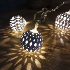 Are you interested in our moroccan light chain? With our fairy lights you need look no further. Moroccan Lighting, Outdoor Lighting, Light Chain, Xmas Gifts, Fairy Lights, Lanterns, Christmas Bulbs, Holiday Decor, Home Decor