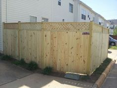 5' solid board wood fence with 1' lattice in Centreville, VA | Beitzell Fence