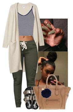 """"" by yngshorty ❤ liked on Polyvore featuring Monki, Topshop, CÉLINE and Nica"