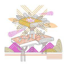 Illustration by Thom Sevalrud. Represented by Art Inc. Line Design, Book Publishing, Surface Design, Illustrators, Hand Lettering, Reading, Summer, Pattern, Inspiration