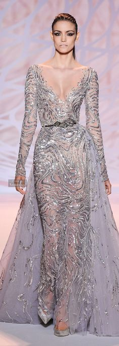 Zuhair Murad Fall-winter 2014-2015 (oh, to be the jewel paired with that gown) #ithaca #jeweler