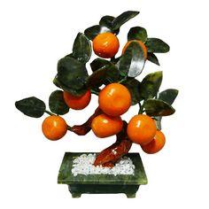 Arbol de la Prosperidad de ocho (08) Mandarinas y Jade.