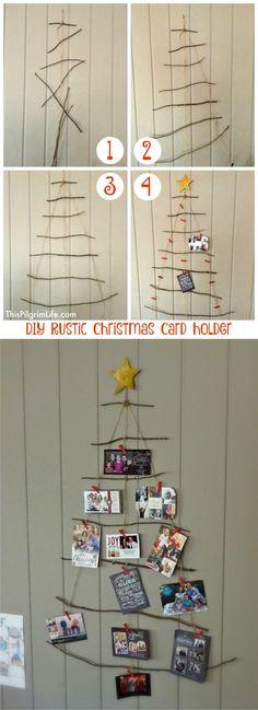 ingenioso colgador para tus postales navideas