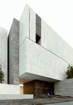 modern minimalist architecture for residences Architecture Design, Minimal Architecture, Concrete Architecture, Residential Architecture, Amazing Architecture, Contemporary Architecture, Concrete Facade, Auditorium Architecture, Contemporary Design