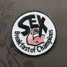 Sex patch Break fast of Champions iron on patch Sew on patch Hat patch badge patch