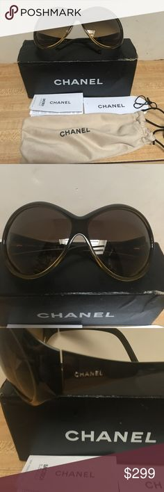 cebceae31c Vintage CHANEL sunglasses These vintage Chanel sunglasses are bold and  oversized. Constructed of brown and