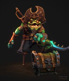 Pirate Frog – by my work mate Tim Moreels View Original Source Here Game Character, Character Concept, Concept Art, Character Design, Character Inspiration, Pirate Illustration, Alien Plants, Plant Zombie, Hand Painted Textures