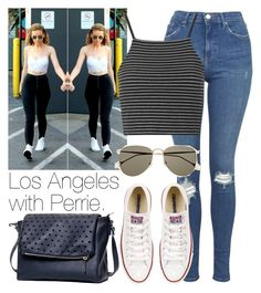 """Los Angeles with Perrie."" by welove1 ❤ liked on Polyvore featuring moda, Topshop, Converse y Gucci"