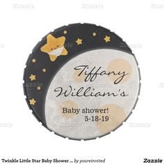 Twinkle Little Star Baby Shower Candytin Jelly Belly Candy Tin