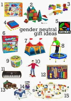 "Gender neutral christmas gifts - great ideas for ""family gifts"" or when exchanging gifts with extended family."
