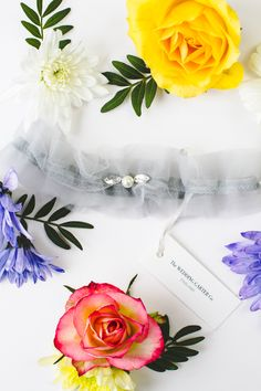 Tulle and pearl bridal garter | Wedding garters from Wedding Garter Co. via @bespokebride