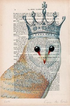 Owl with crown wall art wall decor wall by Cocodeparis on Etsy