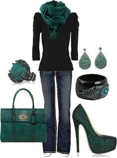 Love the shoes & the color! I need more green/teal in my wardrobe.