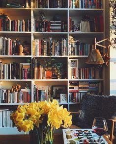 home library bookcase decor