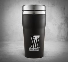 Escape from the 9 to 5 every time you take a sip with a H-D mug.   Harley-Davidson #1 Skull Travel Mug