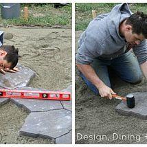DIY Stone Patio Reveal and Tutorial