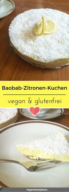Kennt ihr noch das Buttermilk Eis von Langnese? So ungefähr schmeckt dieser Rohkost Baobab-Zitronen-Kuchen hier. #vegan #rohkost #glutenfrei #baobab