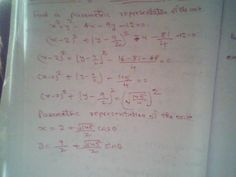 Maths: find the parametric equation of the circle