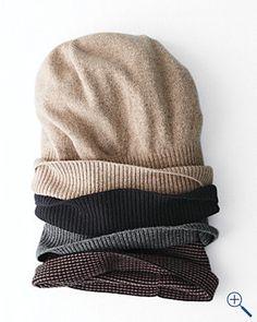 easy cashmere slouchy hat {garnet hill}