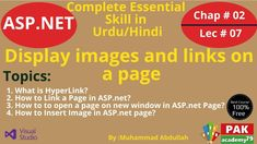 Net: Display images and links on a page [Ch # 02 Web Forms, Insert Image, Programming Languages, Web Application, Knowledge, Display, Education, Link, Floor Space